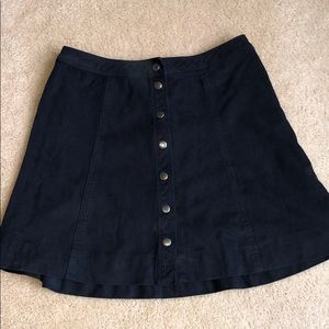 Abercrombie & Fitch Button Skater Skirt